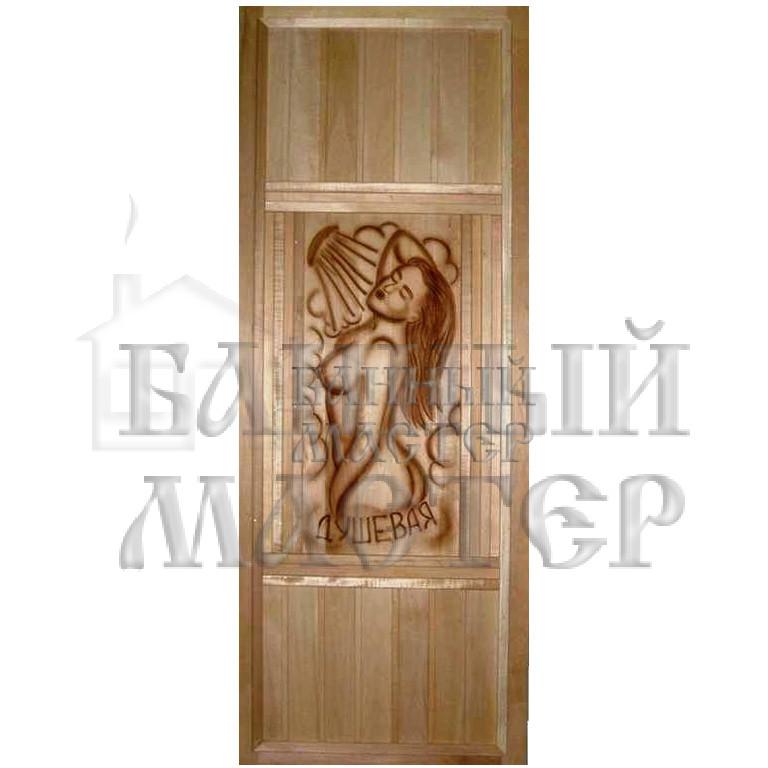 Дверь с резной вставкой (большая вставка)