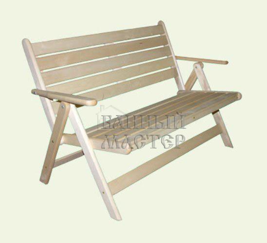 Деревянная скамейка своими руками с подлокотниками