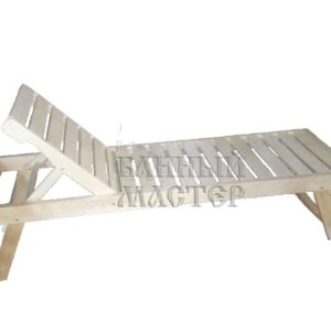 Лежак с регулируемой спинкой Усиленный (разборный)